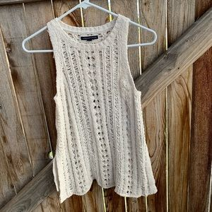 American Eagle Outfitters crochet sleeveless top